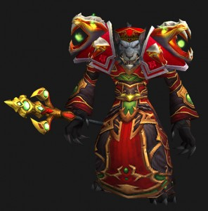 Blood Priest Look - Worgen Male (available to all cloth-wearers)