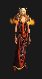 Firebird - Female Blood Elf (available to all cloth-wearers)