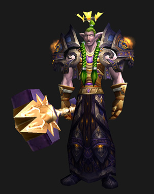 Plate Transmog: Hammer of Grief (Night Elf)