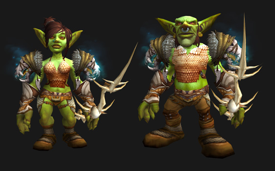"Mail Transmog - ""Imperfect Specimens"" Set - Male and Female Goblin"