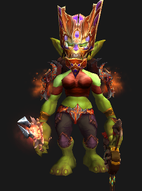 Cloth Transmog - Hexxar's Mask - Female Goblin