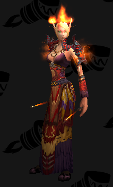Cloth Transmog - Spirit-Wrencher Robe - Blood Elf Female