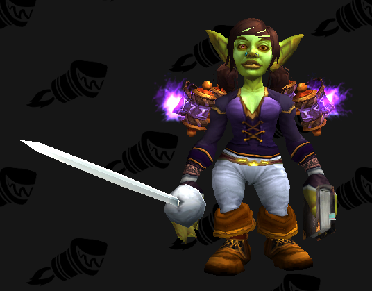 Cloth Transmog - Cat Lover's Vest - Female Goblin