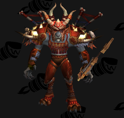 """""""Scalp of the Bandit Prince"""" Mail Transmog Set - Male Preview"""