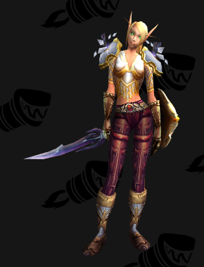 Plate Transmog - Protective Barricade of the Light - Female Blood Elf