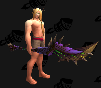 Earthwarped Bladestaff - weapons transmog